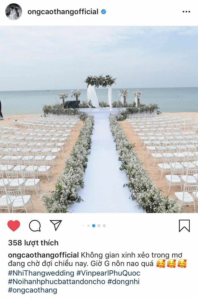 Dàn sao đua check-in địa điểm đám cưới Đông Nhi – Ông Cao Thắng - 4