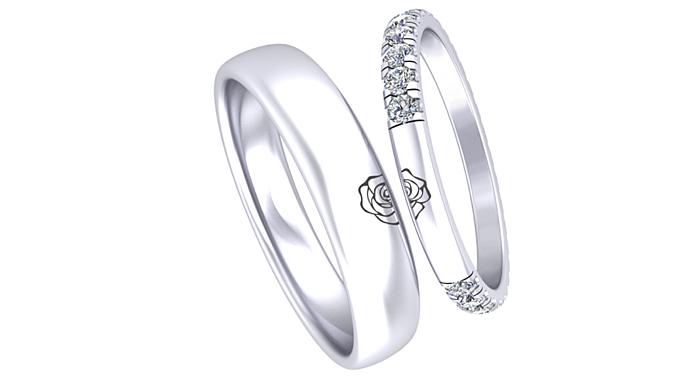 Cặp nhẫn cưới được lấy cảm hứng từ câu chuyện tình 10 năm của Đông Nhi – Ông Cao Thắng được sử dụng những viên kim cương đặc biệt 99 giác cắt– được chế tác tinh xảo bậc thầy để mọi góc nhìn đều trở nên rực rỡ và lấp lánh nhất. Khác so với các kim cương thông thường chỉ từ 57-58 giác cắt, kim cương 99 giác cắc có độ phát sáng tốt hơn và lấp lánh hơn.