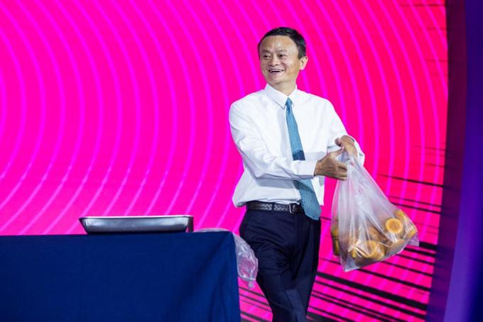 Jack Ma, nhà đồng sáng lập và cựu chủ tịch Alibaba. Ảnh: SCMP.