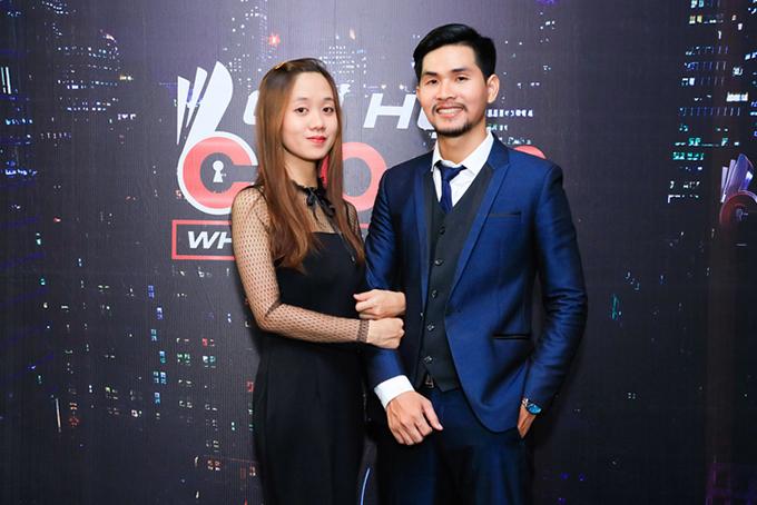 Nguyễn Kiến Trúc và vợ sắp cưới.