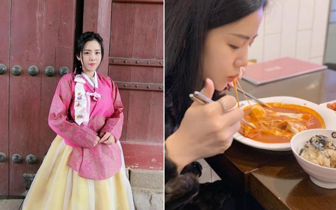 Em gái Ông Cao Thắng mê check in đồ ăn