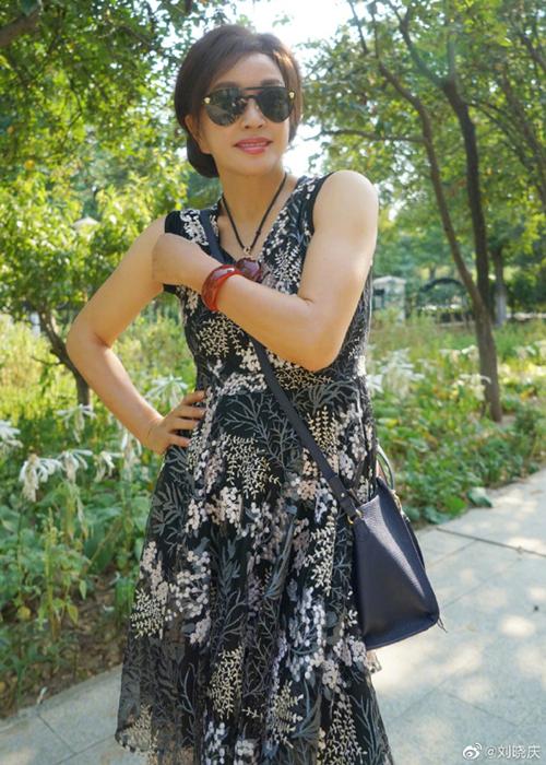 Hình ảnh đời thường của Lưu Hiểu Khánh được cô chia sẻ trên trang cá nhân.