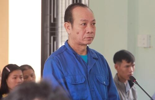 Nguyễn Quốc Long tại phiên tòa. Ảnh: Vạn An