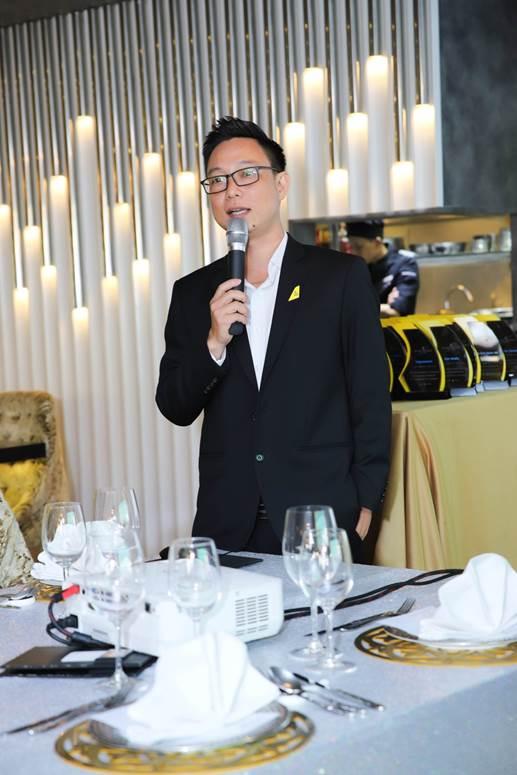 Ông Trần Giang San - Tổng Giám đốc kinh doanh tại Việt Nam của Royal Brunei Airlines trong buổi công bố mở lại đường bay từ TP HCM đi Brisbane