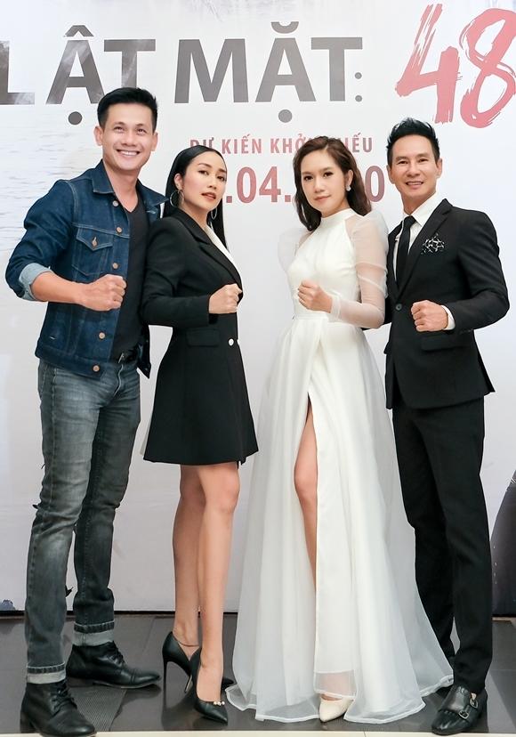 Võ Thành Tâm và Ốc Thanh Vân bên vợ chồng Minh Hà - Lý Hải.
