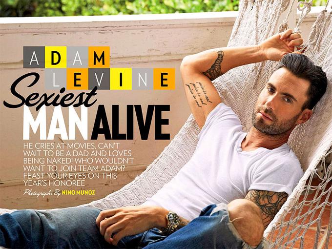 Năm 2013, trước khi kết hôn với thiên thần nội y Behati Prinsloo, nam ca sĩ Adam Levine được vinh danh là Người đàn ông gợi tình nhất thế giới. Đến nay, anh đã là ông bố của hai cô con gái kháu khỉnh.