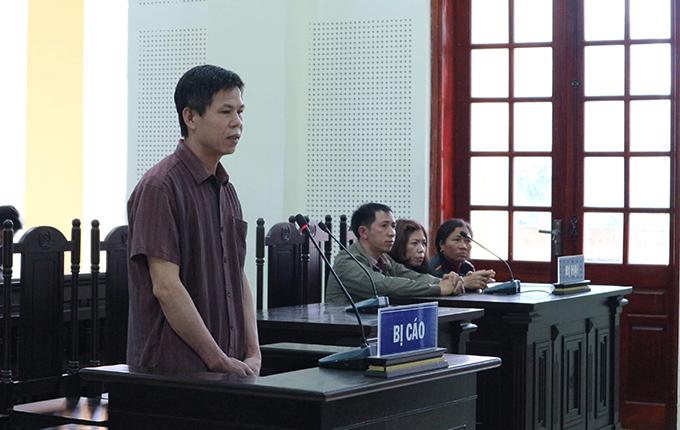 Bị cáo Khánh tại tòa hôm nay. Ảnh: Anh Thư.