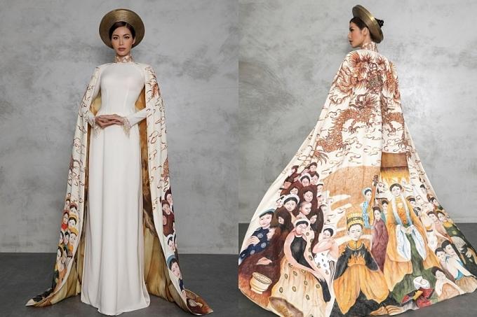 Năm 2018, trang phục dân tộc của cô được giám khảo lựa chọn vào Top 10. Người đẹp diện áo dài Con rồng cháu tiên do nhà thiết kế Đinh Văn Thơ thực hiện. Bộ đồ mang thông điệp đề cao tinh thần đoàn kết giữa các dân tộc, tôn vinh nguồn gốc cao quý của dân tộc Việt.