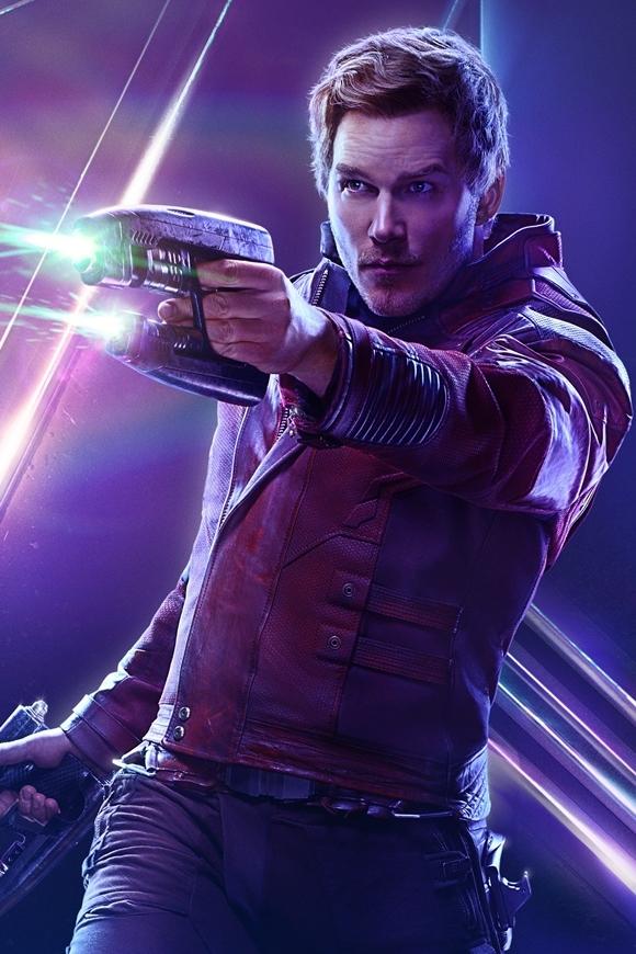 Chris Pratt đóng vai Star Lord hài hước và duyên dáng.