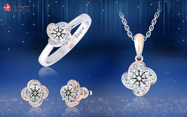 Trang sức kim cương của DOJI được thiết kế từ những viên kim cương chất lượng, nhất là dòng kim cương có giác cắt hoàn hảo 8 Heart & 8 Arrows. Mỗi thiết kế của thương hiệu gửi gắm và truyền tải những thông điệp đại diện cho sắc đẹp, phẩm chất phái đẹp như bộ sưu tập Như đóa trà my.