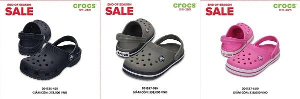 Crocs giảm giá đến 50% trên toàn quốc