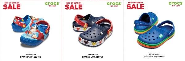 Crocs giảm giá đến 50% trên toàn quốc - 1