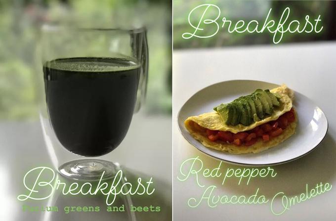Bữa sáng chuẩn Keto, không chứa tinh bột của đả nữ gốc Phi.