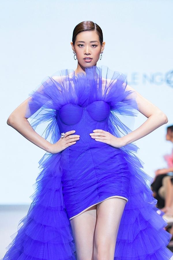 Nguyễn Trần Khánh Vânthể hiện nổi trội từ những ngày đầu nên tiếp tục giữ vững vị trí thứ 3. Người đẹp 24 tuổi từng vào top 10 mùa thi năm 2015.