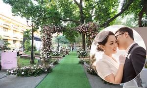 Không gian cưới sân vườn của người đẹp Thu Hà