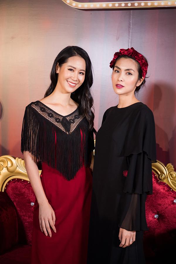 Hà Tăng hội hộ Hoa hậu Dương Thuỳ Linh.