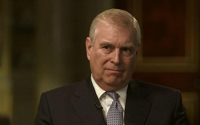 Hoảng tử Andrew trong cuộc phỏng vấn với BBC, phát sóng tối 16/11. Ảnh: BBC.