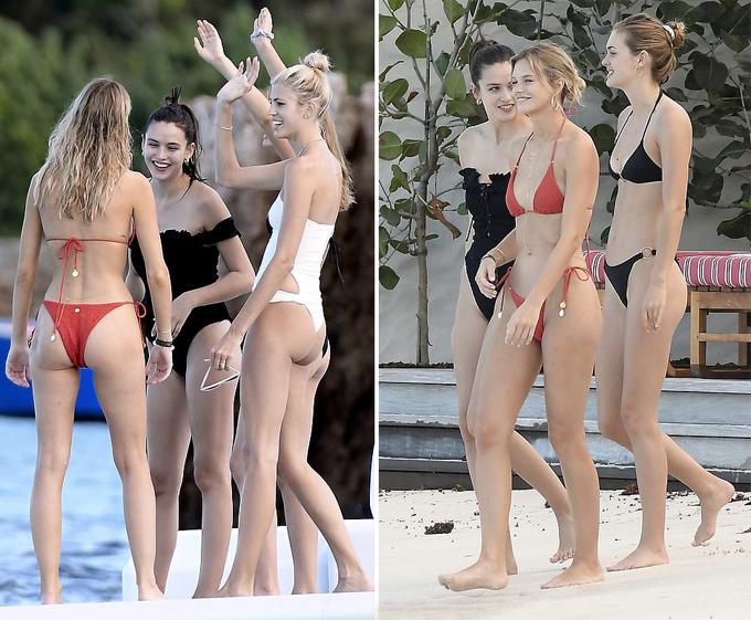 Cô dâu thả dáng trên bãi biển cùng các cô bạn xinh đẹp, nóng bỏng.