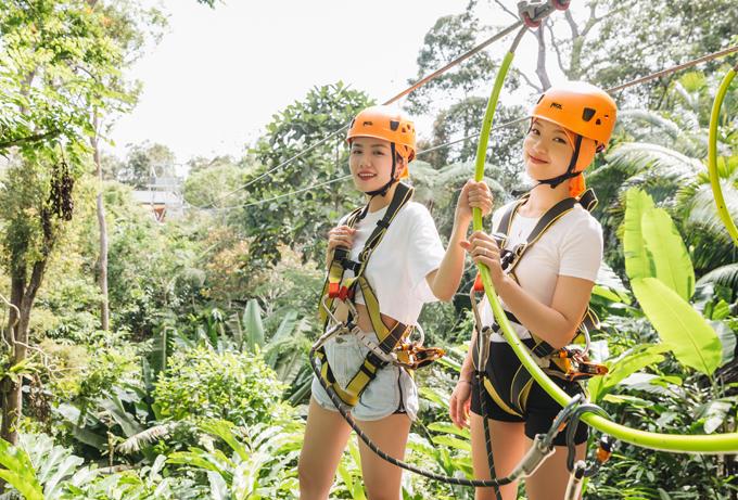 Tại đồi Habita Penang đôi bạn trải nghệm những trò chơi cảm giác mạnh kết hợp khám phá thiên nhiên hoang sơtuyệt đẹp của Malaysia.