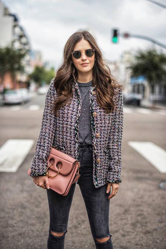 Áo khoác vải tweed cho nàng công sở - 1