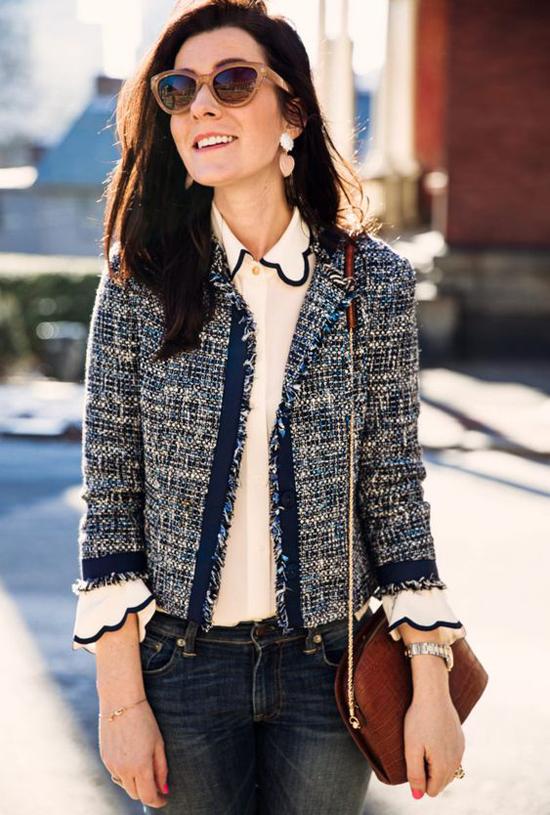 Áo khoác vải tweed cho nàng công sở - 4
