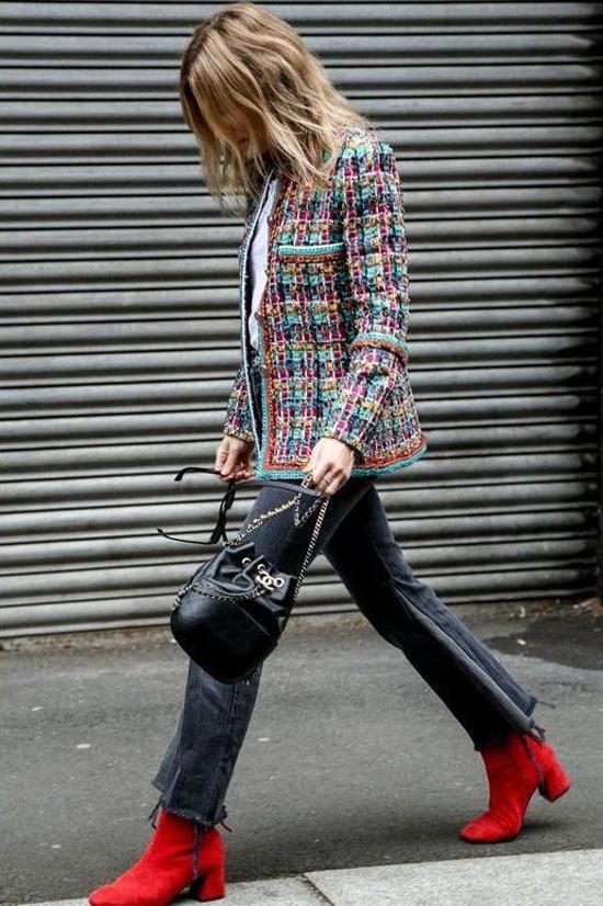 Áo khoác vải tweed cho nàng công sở - 2