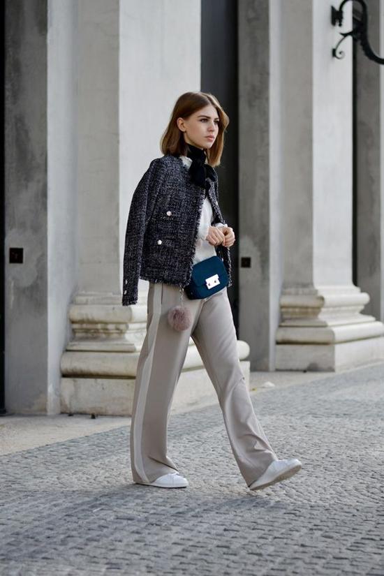 Áo khoác vải tweed cho nàng công sở - 3