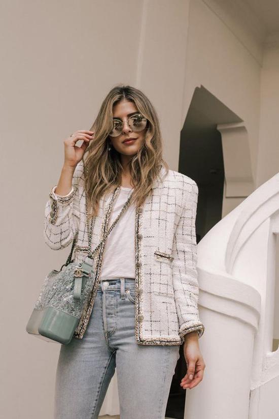 Áo khoác vải tweed cho nàng công sở - 5