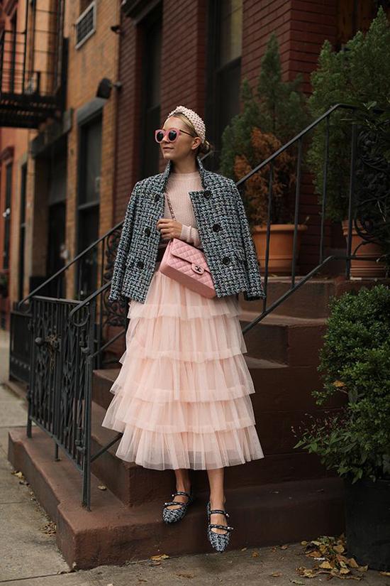 Áo khoác vải tweed cho nàng công sở - 6