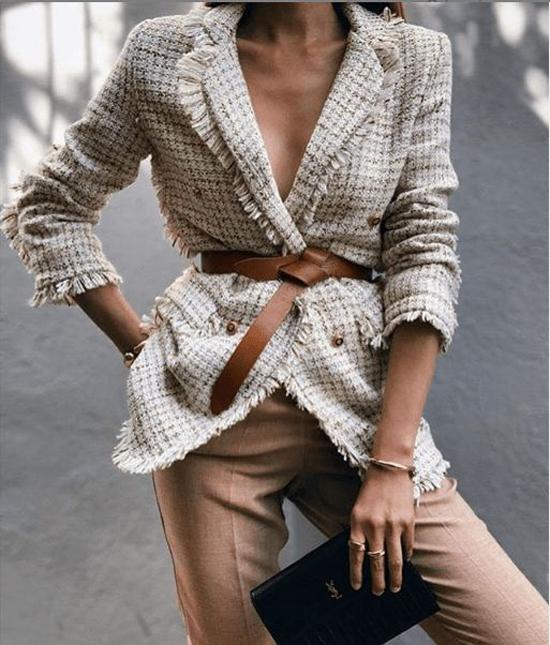 Áo khoác vải tweed cho nàng công sở - 8