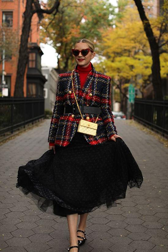 Áo khoác vải tweed cho nàng công sở - 9
