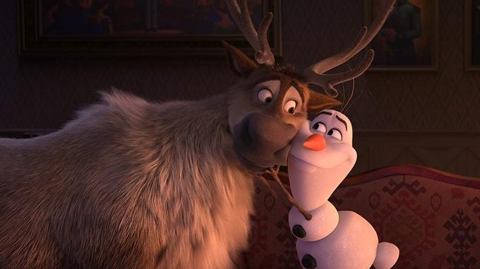 Tuần lộc Sven và người tuyết Olaf nhí nhố.