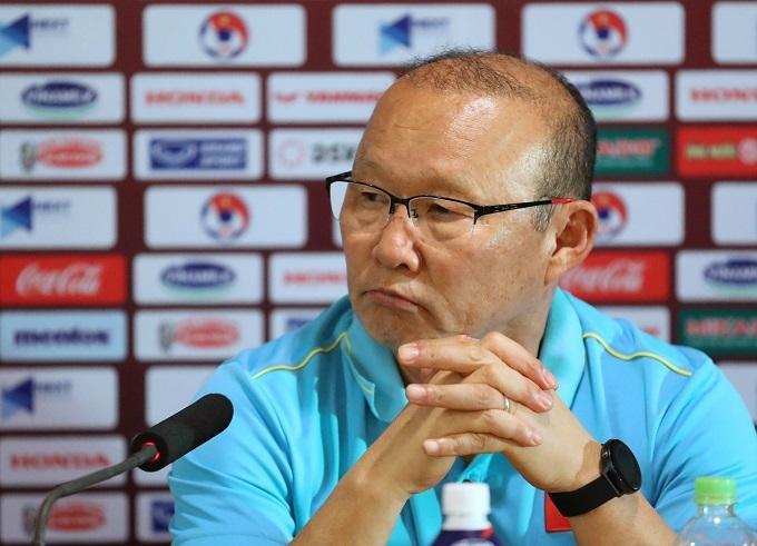 HLV Park không hài lòng với 1 điểm trước Thái Lan. Ảnh: Ngọc Thành