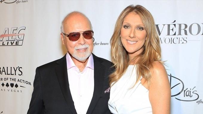 Celine Dion bên chồng và cũng là người quản lý vài năm trước.