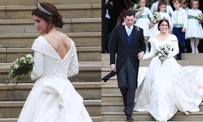 Vết sẹo trên lưng của cô dâu rất nhỏ và mảnh.