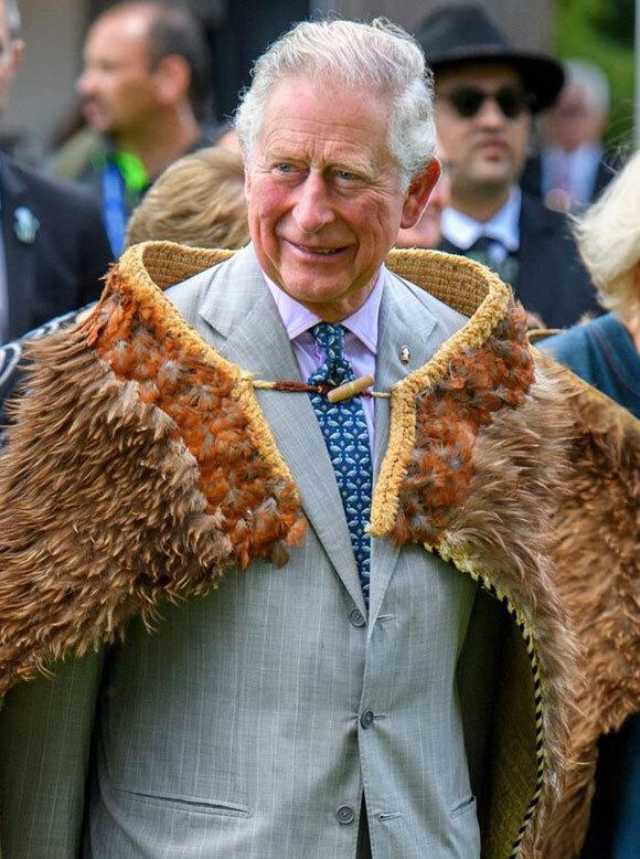 Thái tử Charles công du New Zealand hôm 19/11. Ảnh: Rex Feartures.