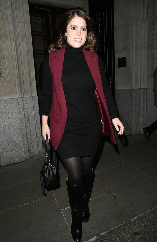 Công chúa Eugenie (29 tuổi) ra về sau khi dự sự kiện từ thiện ở London tối 20/11. Ảnh: Backgrid.