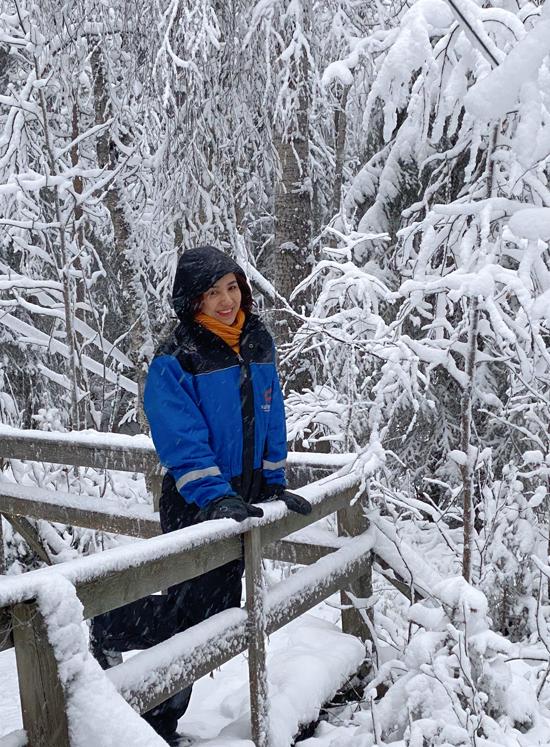 Phong cảnh thiên nhiên mùa đông Bắc Âu rất ấn tượng.