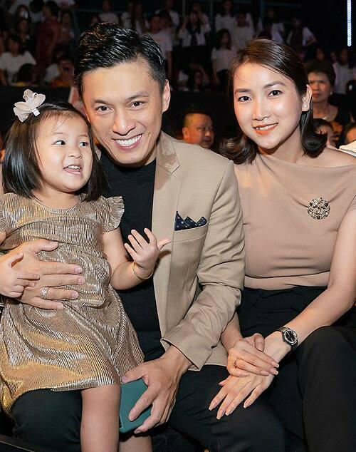 Vợ chồng Lam Trường có quan điểm khá thống nhất khi dạy con.