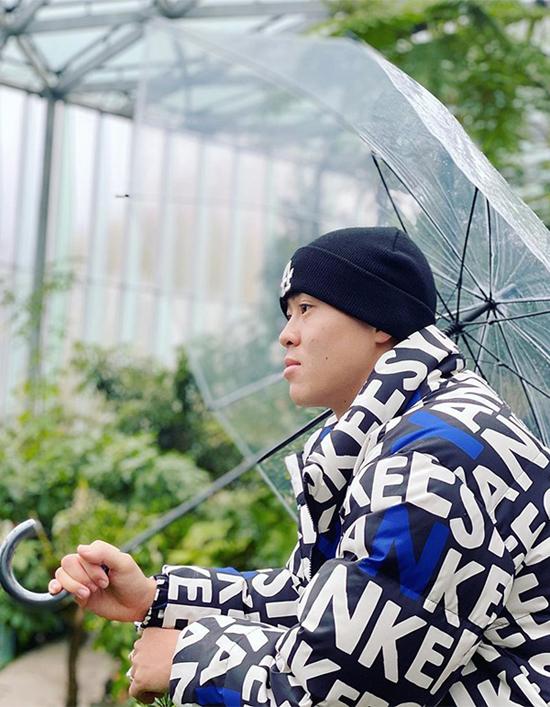 Hình ảnh Duy Mạnh được bạn gái Quỳnh Anh chụp.