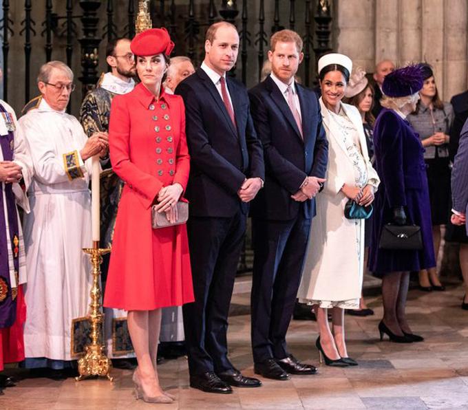 Vợ chồng Kate - William và vợ chồng Harry - Meghan cùng dự sự kiện hồi đầu năm. Ảnh: PA.