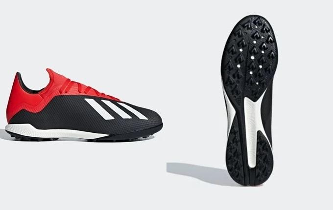 Giày Adidas X Tango 18.3 có kiểu dáng cơ bản, chất liệu cao cấp. Với sự trợ giúp của công nghệ Adidas Tech Fit, thiết kế nhẹ và mềm mại, phù hợp với những chàng trai thích dứt điểm hay rê dắt. Công nghệ đế TF mới giúp người chơi phát huy hết khả năng trên mặt sân cỏ nhân tạo. Sản phẩm đang giảm 25% trên Shop VnExpress, còn 1,795 triệu đồng (giá gốc 2,39 triệu đồng).