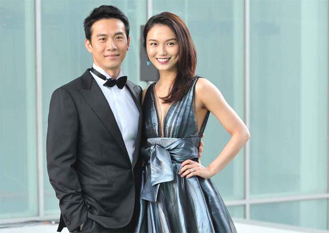 Thích Ngọc Vũ và vợ - diễn viên Bạch Vi Tú