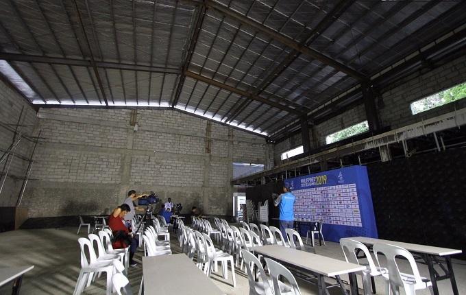 Phòng họp báo sau trận Malaysia - Myanmar hôm 25/11.