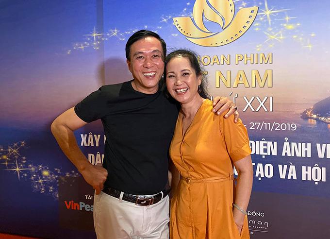 Vợ chồng nghệ sĩ Hương Lan - Đỗ Kỷ dự liên hoan phim Việt Nam lần thứ 21 tại Vũng Tàu.