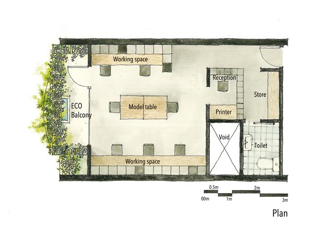 Bản phác thảo sơ đồ căn nhà.