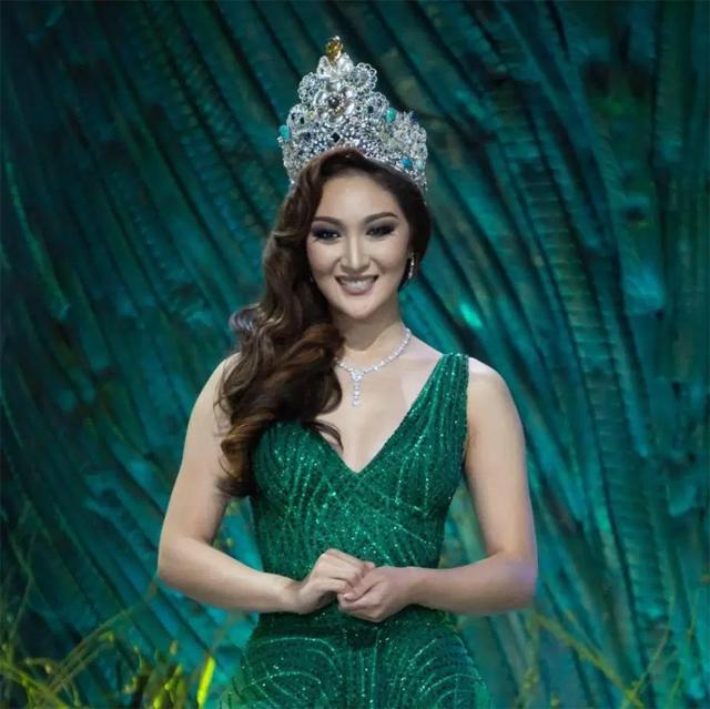 Người đẹp đại diện cho đoàn Myanmar là Karen Ibasco - Hoa hậu Trái đất 2017.