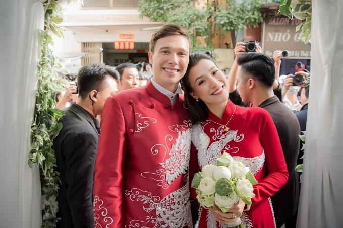 Tiệc cưới của đôi tân lang tân nương diễn ra tối 1/12 tại TP HCM.