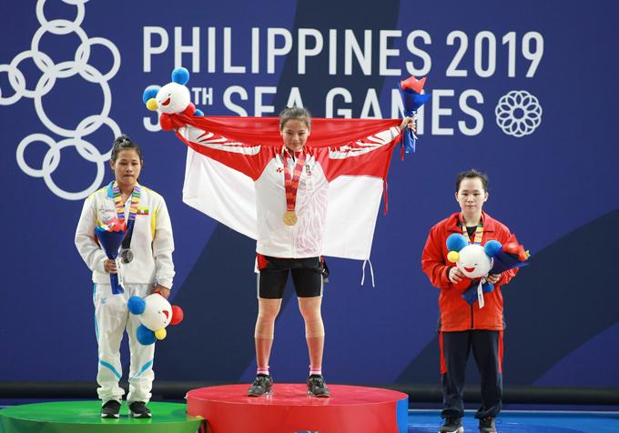 VĐV Ngô Thị Quyên của Việt Nam giành HC đồng ở hạng cân 49 kg dành cho nữ