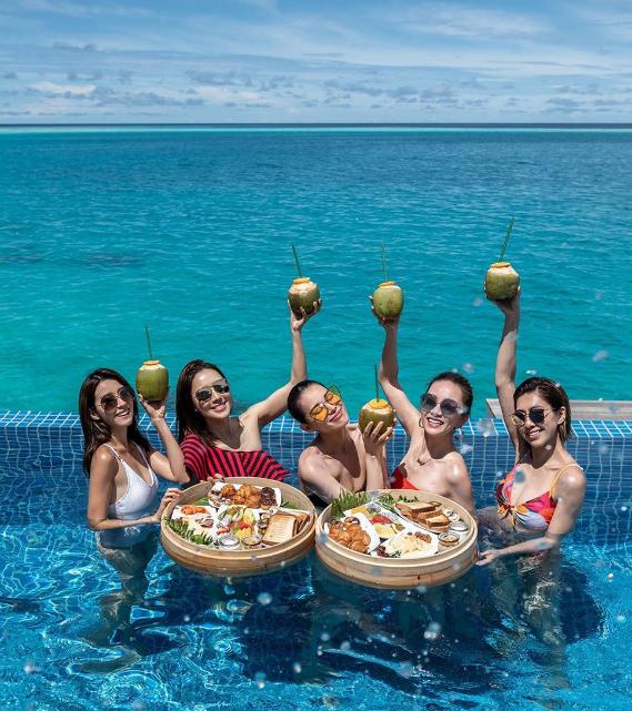 Hội chị em TVB chọn resort cao cấp ở Maldives - 2